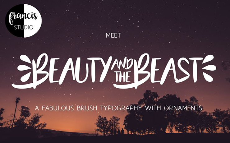 Beauty and The Beast Font Family Free Download