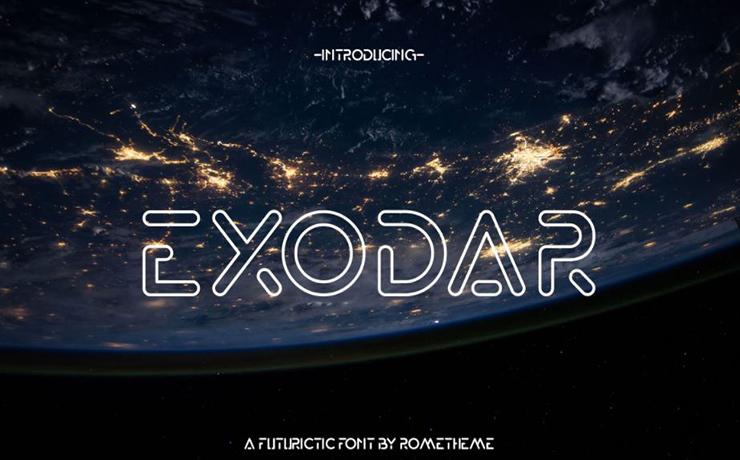 Exodar Font Family Free Download
