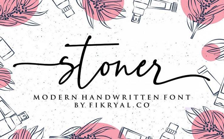 Stoner Script Font Family Free Download