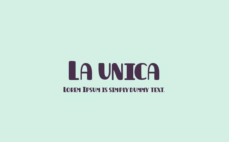 La Unica Font Family Free Download