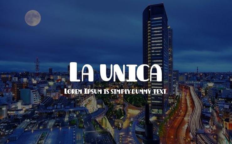 La Unica Font Free Download