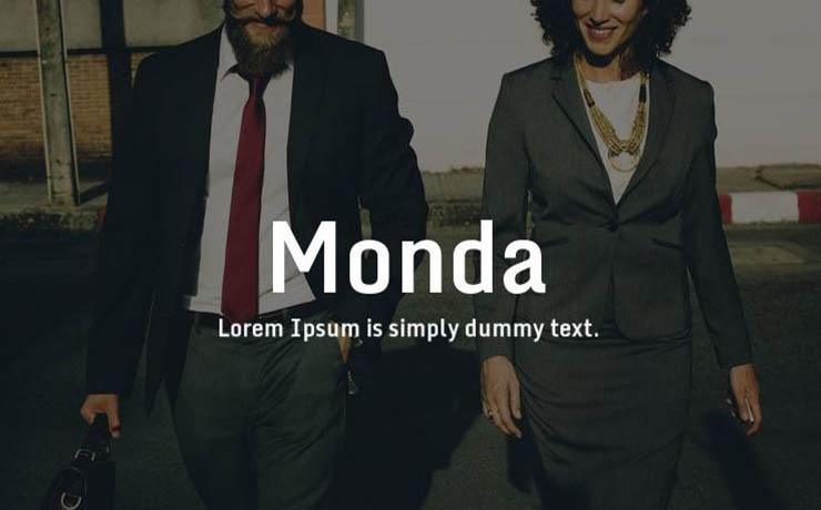 Monda Font Family Free Download