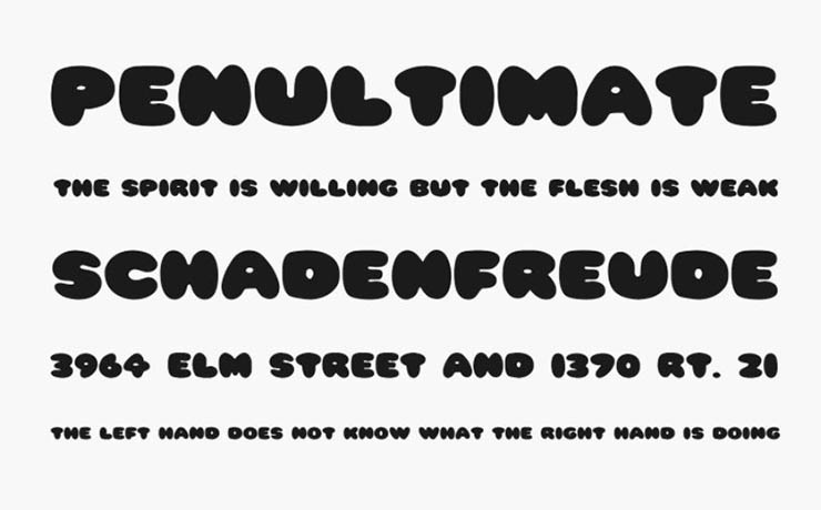 Pleasantly Plump Font Family Download
