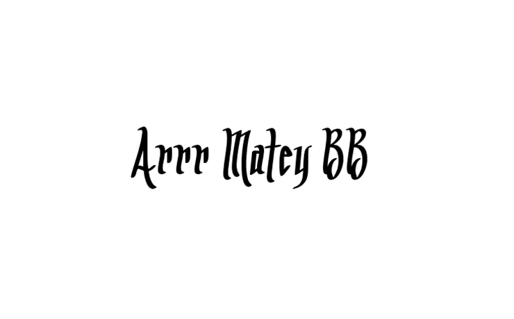 Arrr Matey Bb Font Family Free Download