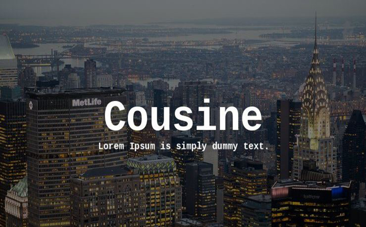 Cousine Font Family Free Download