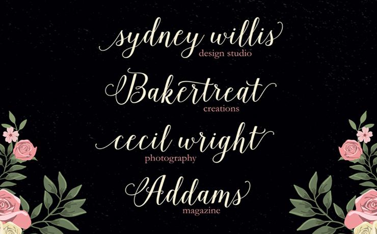 Isabella Script Font Family Download