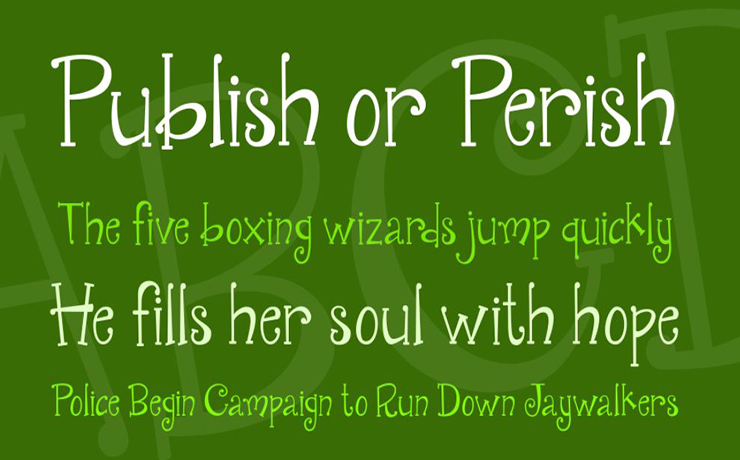 Janda Quirkygirl Font Family Download