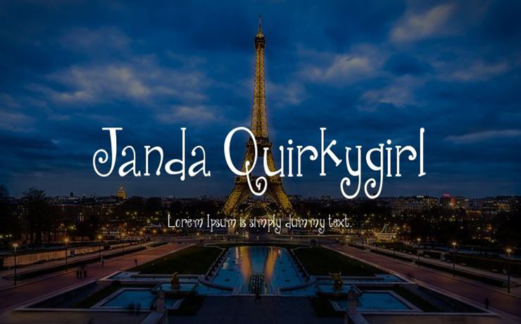 Janda Quirkygirl Font Family Free Download