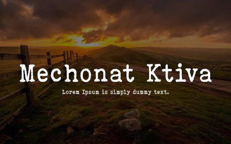 Mechonat Ktiva Font Family Free Download