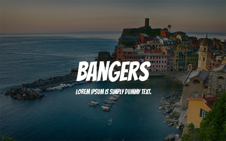 Bangers Font Family Free Download