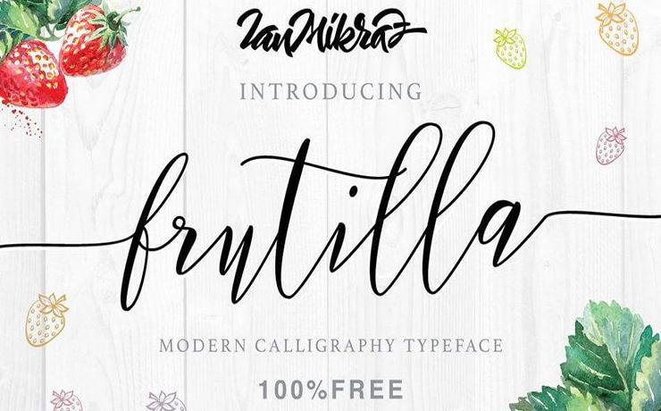 Frutilla Script Font Family Free Download