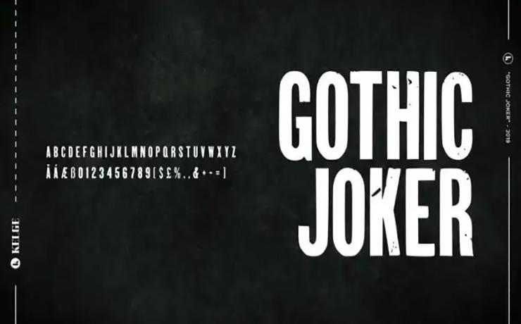 Gothic Joker Display Font Family Download
