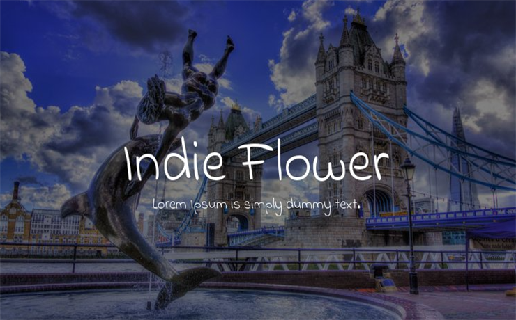 Indie Flower Font Family Free Download