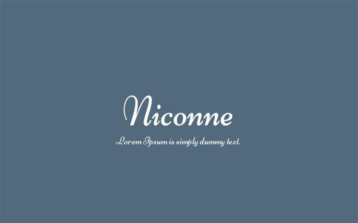 Niconne Font Family Free Download