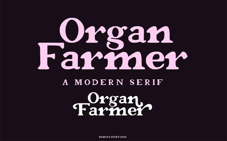 Organ Farmer Font Family Free Download