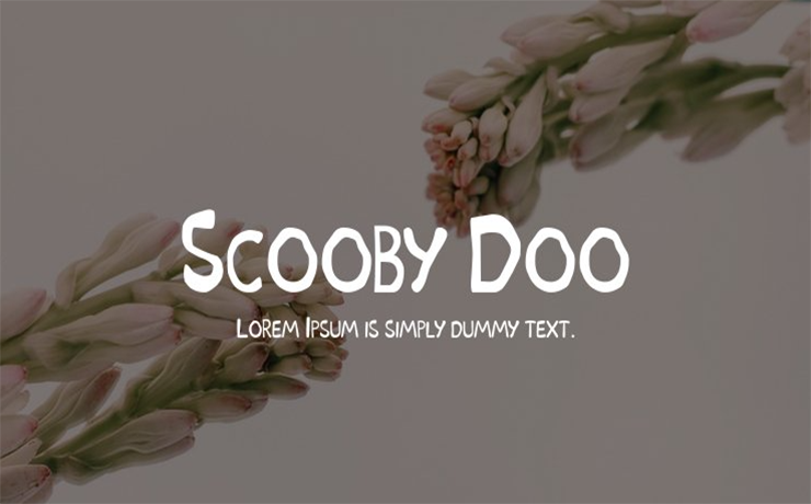 Scooby-Doo Font Family Free Download